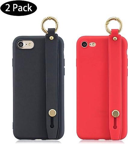 Leton [2 Pack] Funda iPhone 7 Negra Rojo, Carcasa para iPhone 7/8 ...