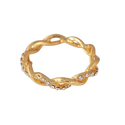 Clearance Ddlbiz Twisted Shape Diamond Distorted Ring Wedding Ring