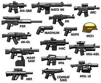 BrickArms Moderna Combate Assault Pack Set de Armas para Lego ...