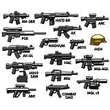 Custom BrickArms V6 Moderne Armes Set avec 21 armes et accessoires pour LEGO Figurines