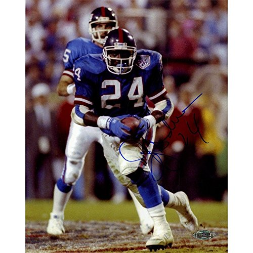 OJ Anderson SB XXV Rushing 8x10 Autographed Signed Photo - Authentic Signature