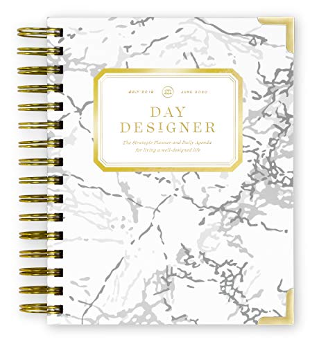 Mini Daily Planner - Day Designer 2019-2020 Mini Daily Life Planner and Agenda, Hardcover, Twin-Wire Binding, 6.625