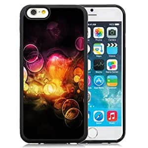 NEW Unique Custom Designed iPhone 6 4.7 Inch TPU Phone Case With Orange Bubbles_Black Phone Case