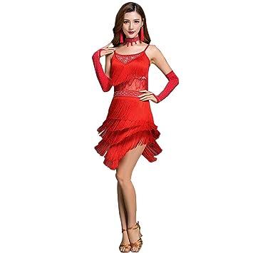 YTS Falda con Flecos de Falda de Falda de Falda de Baile: Amazon ...