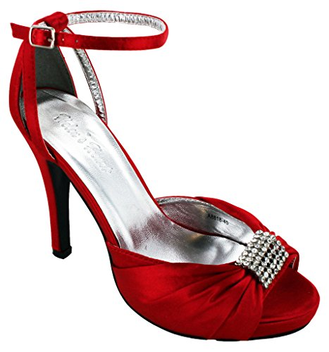 Helen's Heart satin ladies formal shoe 4