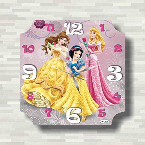 FBA Disney Princess 11.8'' Handmade unique Wall Clock - Get unique décor for home or office – Best gift ideas for kids, friends, parents (Princess Clock Wall)