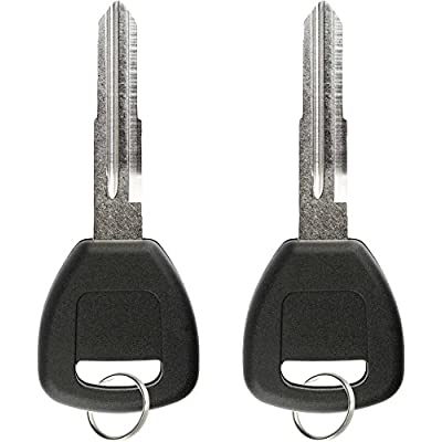 KeylessOption Replacement Chip Transponder Blank Car Ignition Key Blade for Honda Acura HD106PT (Pack of 2): Automotive