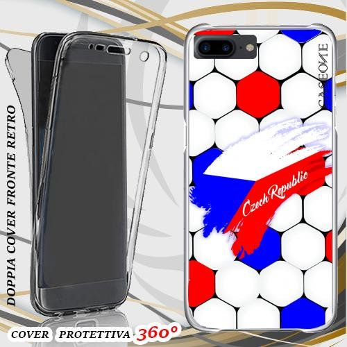 CUSTODIA COVER CASE EUROPEI REPUBBLICA CECA PER IPHONE 7 PLUS FRONT BACK
