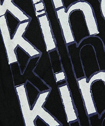 Reebok Nhl Los Angeles Kings mujeronas juventud manga corta camiseta Burnout, negro grande - negro