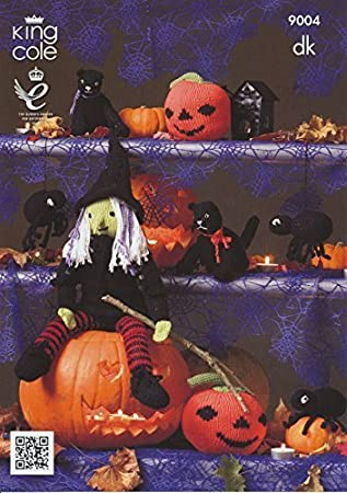 Amazon King Cole Double Knitting Pattern Halloween Witch Cat