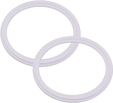 O-Ring Tri-clamp Pack of 2 8 Inch DERNORD Silicone Gasket Tri-clover