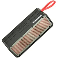 RuggedTec RoqBloq Portable Bluetooth Speaker Outdoor Rugged Water Resistant, Dust & Shock Proof (Black/Red)