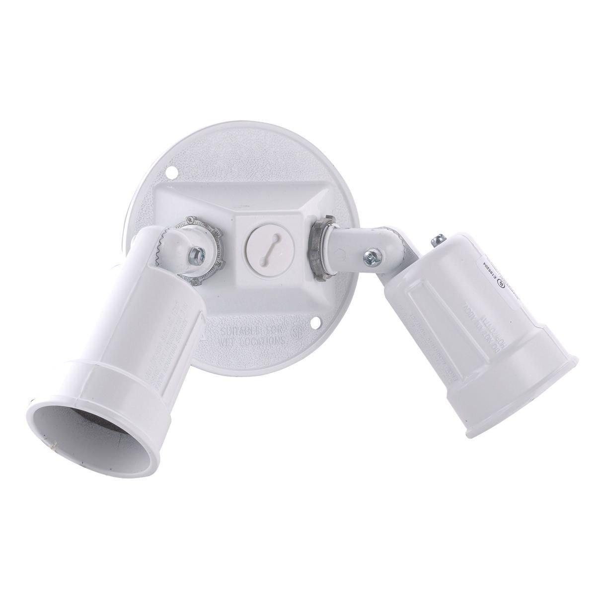 Hubbell Raco 5625-6 Hubbell 5625 Weatherproof Combination Lamp Holder, 75-150 W, Par 38, Die Cast Zinc, White