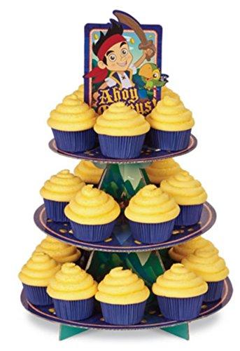 ジェイクとネバーランドのかいぞくたちパーティーケーキスタンド&カップケーキケースセット B0145FC4D6