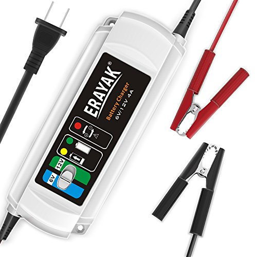 Price comparison product image 4A 12V Smart Battery Charger Automatic Trickle Charger Fast Charging for Fully Charge and Maintain a Battery at Proper Storage Voltage Without The Damaging Effects by Battery Maintainer