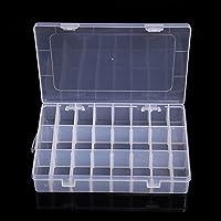 periwinkLuQ Verstelbare 15/10/24 vakje Slot Plastic Opbergdoos Sieraden Tool Container 24 Grids