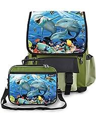 Kidaroo Sunshine on the Reef School Backpack & Lunchbox for Girls, Boys, Kids