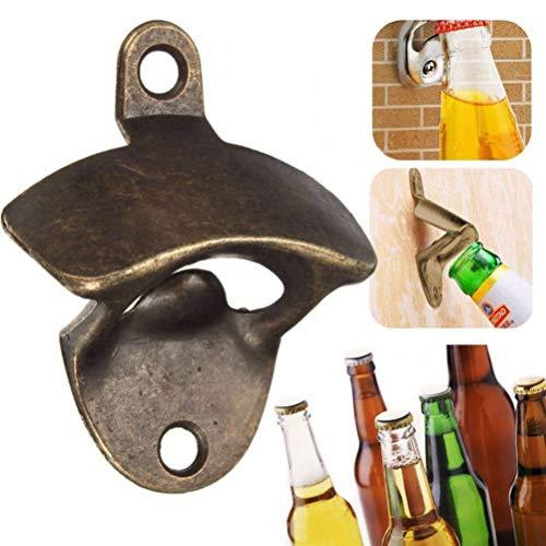 Bar Supplies - 1pc Vintage Bronze Zinc Alloy Wall Mounted Opener Wine Beer Soda Glass Cap Bottle Bar Gift - Restaurants Juice Glasses Beaker Muddler Shaker Caddy Kitchen Accessories Sticks