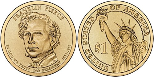 2010 P&D Franklin Pierce Presidential Dollar Set