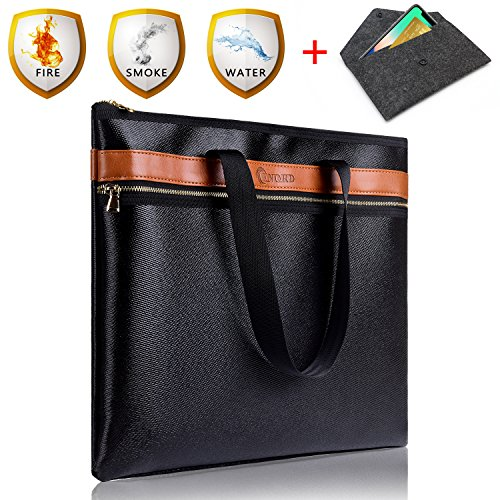 "Fire Safe, Fireproof Document Bag 15""x12""x2"" NON-ITCHY Fire