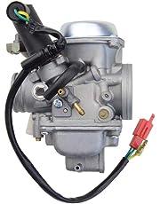 GOOFIT Carburador Moto, 30mm Filtro Aire 48mm con Electrónico de Acelerador Pit Bike para 250cc 260cc CF250 CH250 CN250 Scooter y Ciclomotor ATV Quad Plata