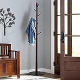 Solid Wood Coat Rack Hanger Clothes Rack Set of 2 Wall Mounted Hanger Hooks Rail for Hallway Living Room Bathroom Heywood