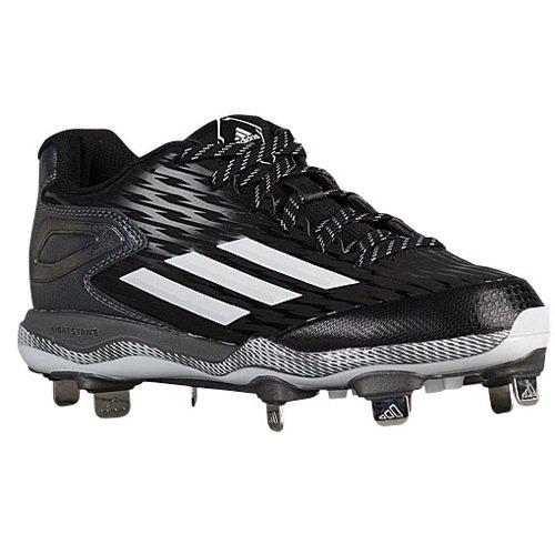 adidas Women's PowerAlley 3 Black/White/Carbon Metallic Sneaker 8.5 B