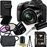 Panasonic Lumix DMC-FZ70 Digital Camera + 16GB SDHC Memory Card + USB SDHC Memory Card Reader + UV FILTER 55MM + CC UV, Florescent, Polarizer Filter Kit (Protect Your Lens!) + Weather Resistant Carrying Case w/Strap + Memory Card Wallet + Two Rechargeable Lithium Ion Replacement Battery + Rapid External Ac/Dc Charger Kit For Sale