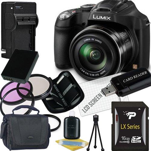 Panasonic Lumix DMC FZ70 Digital Camera 16GB SDHC Memory Car