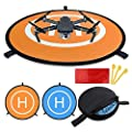 "New landing pad for RC drone size 30""(75cm) Quadcopter launch pad, Helicopter Mini helipad ,compatible for racing drone , DJI Mavic inspire 1 2 phantom 2 3 4 pro, Parrot, GoPro Karma, Fast-Fold by Blue Eye United"