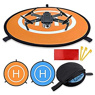 """New landing pad for RC drone size 30""""(75cm) Quadcopter launch pad, Helicopter Mini helipad ,compatible for racing drone , DJI Mavic inspire 1 2 phantom 2 3 4 pro, Parrot, GoPro Karma, Fast-Fold by Blue Eye United"""