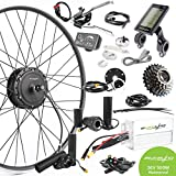 EBIKELING 36V 500W 700C Geared Front Rear Waterproof Electric Bicycle Conversion Kit (Front/LED/Thumb)