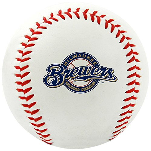 Rawlings MLB Milwaukee Brewers Team Logo Baseball, Official, White ()