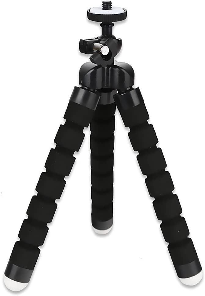 HuntGold Universal Flexible Foam Octopus Mini Tripod Stand for Digital Camera DV Phone Black