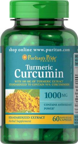 Пуританской Гордость Куркума Куркумин 1000 мг-60 капсулы
