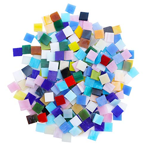 Mosaico (800 Piezas) 1cm x 1cm - Mosaico Ceramica Multicolor para Manualidades, Decoracion Hogar, Pared, Marco Fotos, Platos, Tazas, Macetas, Espejo - Teselas Mosaico 0,3cm Grosor