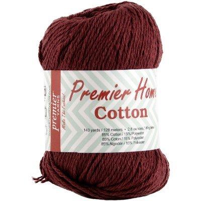Premier Yarns Solid Home Cotton Yarn, Burgundy (Burgundy Yarn Cotton)