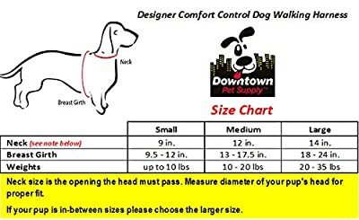Comfort Control Dog Walking Harness, Padded Vest, Lightweight, No More Pulling, Tugging or Choking, for Puppies and Small Dogs (Colors - Variety; Size - Small, Medium & Large), by Downtown Pet Supply