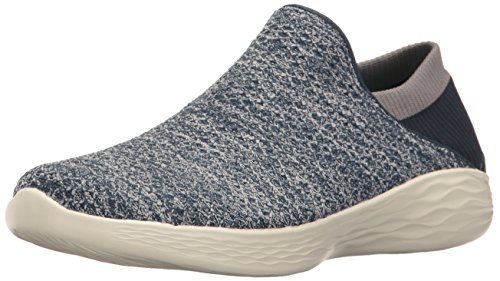 Bleu Navy Noir Baskets You Enfiler Skechers Femme q4aTXqw