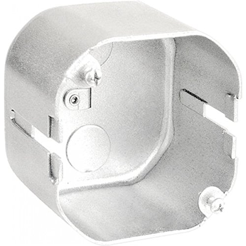 (1 Pc, .0625 Galvanized Steel 4 In. Octagon T-Bar Box, Back Side Tie Wire & 4 T-Bar Slots, 2-1/8 In. Deep, (2) 1/2 In. Bottom Knockouts For Ceiling Lighting Fixtures, Fans, Convenience Junction Boxes)