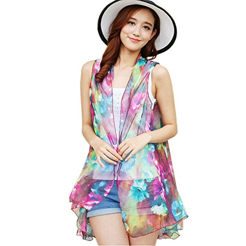 Joyci Summer New Arrival Women's Shawl Warp Scarf Sleeveless Chiffon Vest