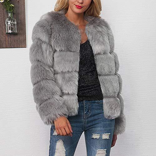 Grigio Pelliccia Pelliccia Outwear Moda Scialle Elegante Parka Di Donna Cappotto ❤ Casuale Vicgrey Invernale Giacca Sintetica Caldo qaHxnYFwA