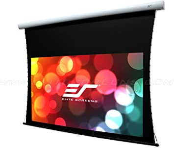 Elite Screens Electric125HT Spectrum Tab-Tension Tab-Tensioned Electric Motorized Projector Projection Screen 16:9 125-Inch Diag