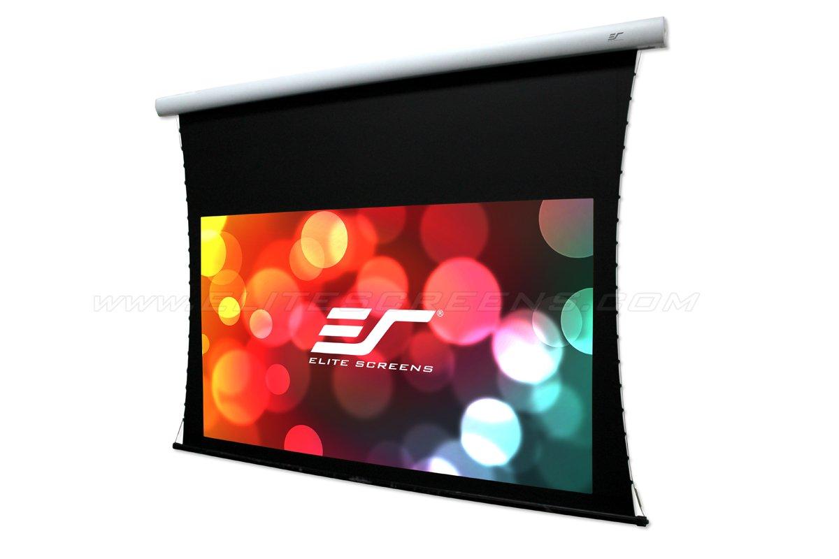 Elite Screens CineTension B Series, 135'' Diag 16:9, 4K/8K Tab-Tensioned Electric Drop Down Front Projector Screen, TE135HW2B-E24