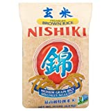 Nishiki Premium Grade Medium Grain Brown Rice, 15-Pound Bag (Pack of 5)