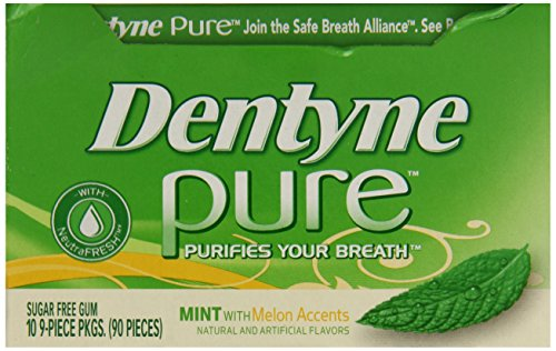 012546308052 - Dentyne Pure Gum Sugar Free Mint with Melon Accents 10 packs (9ct per pack) carousel main 5