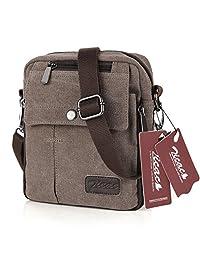 Koolertron Fashion Unisex Men's Women's Retro Lightweight Small Canvas Cross Body Everyday Satchel Bag Messenger Bag