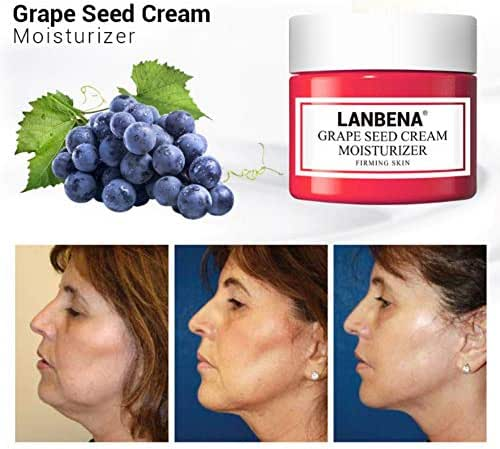 Vitamin C Cream For Face Whitening And Nourishing,Hyaluronic Acid Facial Cream For Moisturizing And Repairing Skin,Grape Seed Facial Cream For Anti-Aging, Firming and Remove Fine Lines ROMANTIC BEAR