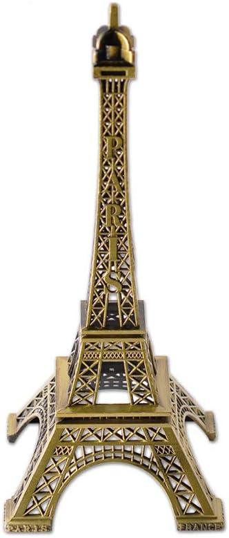 DSstyles Torre Eiffel Modelo Torre Eiffel Estatua Metálica Estatuilla Torre Eiffel para Souvenirs - 32cm