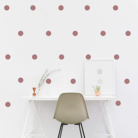 Amazon Com Leoter Metallic Rose Gold Wall Decal Dots 2 0